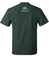 Green Bike Vermont T-shirt back